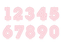 Set of birthday candles. Number shapes Stock Photo