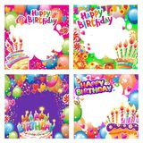 Set of Birthday cards with place for text royalty free stock photo