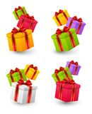 Set of Birthday gifts Stock Photo