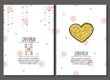 Set of birthday greeting cards creative design. Vector illustration vector illustration