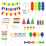 Set of birthday party Royalty Free Stock Image