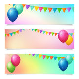 Set of birthday summer blurred  banner background Stock Photo
