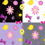 Set:birthday texture ,vector Stock Images