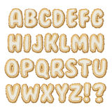 Set of Biscuit Alphabet A-Z Stock Image