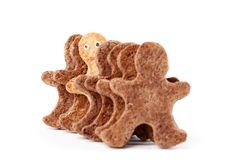 Set of biscuits Gingerbread Man Stock Photos