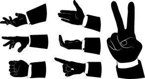 Set of bisnessmen`s hands Royalty Free Stock Photos