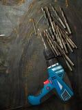 Set of bit drills Stock Image