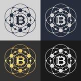 Set of bitcoin symbol templates. Stock Photo