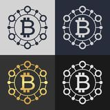 Set of bitcoin symbol templates. Stock Photography
