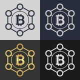 Set of bitcoin symbol templates. Stock Images