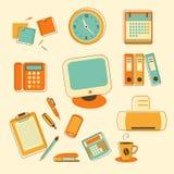 Set biurowe ikony ilustracji