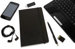 Set biznesów tematy, szkoła i biurowe dostawy, Zdjęcia Stock