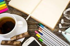 Set biznesów tematy, szkoła i biurowe dostawy, Obrazy Royalty Free