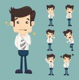 Set biznesmenów charakterów pozy Zdjęcie Stock