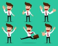 Set biznesmenów charakterów pozy Obrazy Stock