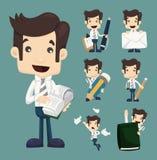 Set biznesmenów charakterów pozy, urzędnik Obraz Stock