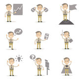 Set biznesmenów charaktery Fotografia Stock