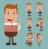 Set biznesmen emocja ilustracji