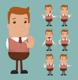 Set biznesmen emocja ilustracja wektor
