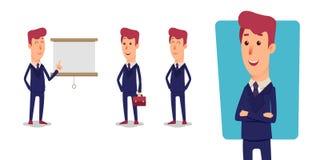 Set biznesmena charakter Kreskówka wektorowi biurowi kierownicy Zdjęcia Royalty Free