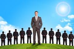 Set biznesmeni i natury tło Zdjęcia Stock
