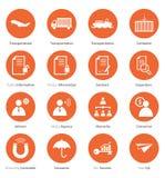 Set biznesowa ikona w płaskim projekcie Obraz Royalty Free