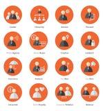 Set biznesowa ikona w płaskim projekcie Zdjęcia Royalty Free