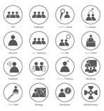 Set biznesowa ikona w płaskim projekcie Zdjęcie Royalty Free