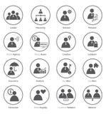Set biznesowa ikona w płaskim projekcie Fotografia Stock