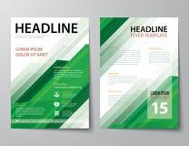 Set biznesowa okładka magazynu, ulotka, broszurka projekta płaski tem Obraz Royalty Free