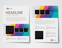 Set biznesowa okładka magazynu, ulotka, broszurka projekta płaski tem Obrazy Royalty Free