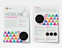 Set biznesowa okładka magazynu, ulotka, broszurka projekta płaski tem Zdjęcie Royalty Free