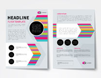 Set biznesowa okładka magazynu, ulotka, broszurka projekta płaski tem Zdjęcia Royalty Free