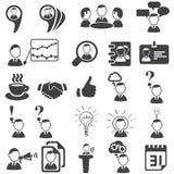 Set biznesowe ikony Obrazy Stock
