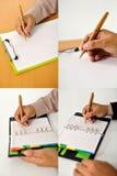 Set Biznesowego mężczyzna Writing Obrazy Stock