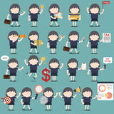 Set biznesowej kobiety aktywność Obrazy Stock