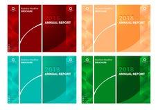 Set Biznesowi broszurka projekta 4 kolory dostępni Zdjęcia Stock