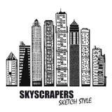 Set biznesowi budynki Scyscrapers royalty ilustracja