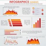 Set biznesowi infographics elementy royalty ilustracja