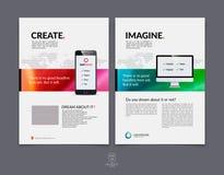 Set Biznesowy broszurki, ulotki i pokrywy projekta układu szablon, Obrazy Stock
