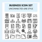 Set 30 Biznesowy i Biurowa ikona, W nowym stylu w NBA lub Niepowiązany ze sobą konturu stylu, ilustracja wektor