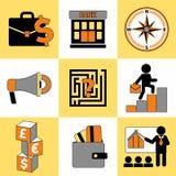 Set biznesowy ikony ogólnoludzki ustawiający dla sieci i wiszącej ozdoby obraz stock