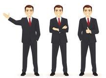 Set biznesowy mężczyzna ilustracji