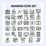 Set 30 biznesu, bankowość i finanse ikona w konturu stylu, royalty ilustracja