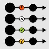 Set black abstract arrows Royalty Free Stock Photo