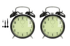 Set of black alarm clock Stock Photography