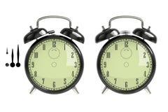 Set of black alarm clock stock photography