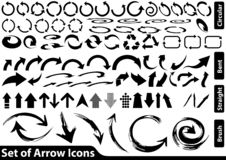 Set of Black Arrow Icons. Black and White Illustration for Your Use, Vector vector illustration