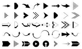 Set of black arrow vector. Arrow icon. Arrow vector icon. Arrows Vector Collections. Vector illustration, set of icons royalty free illustration