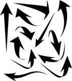 Set of black arrows icons. Set of black arrows icons Royalty Free Stock Photo